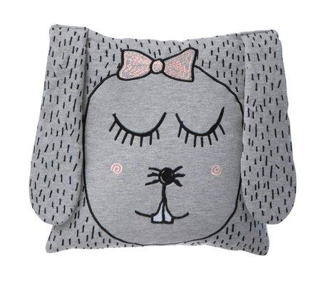 Ferm Living Sierkussen/Knuffel Little Ms. Rabbit grijs 30x30cm