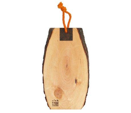 Storebror Broodplank hout met schors 30-35cm