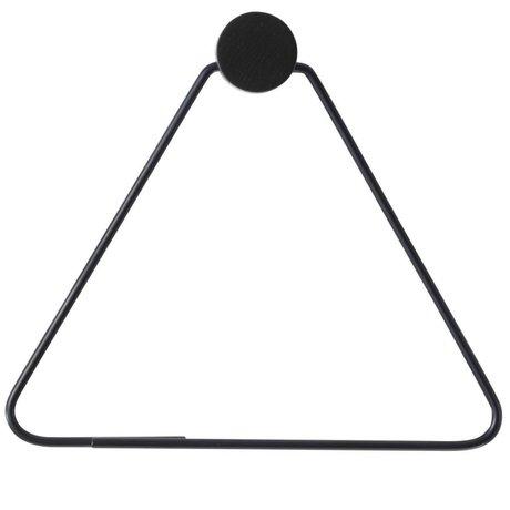Ferm Living WC rol houder zwart metaal 17x5x15cm
