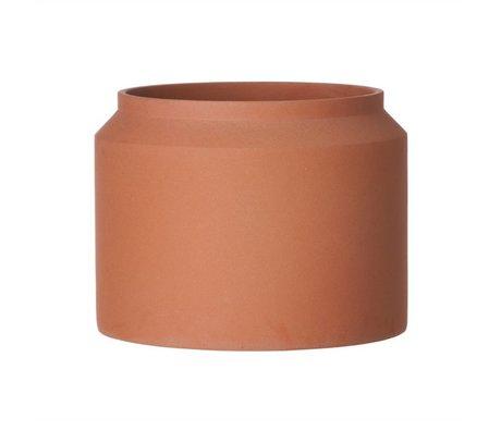 Ferm Living Pot voor plant Ochre beton large ø32x25cm