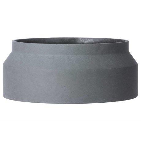 Ferm Living Pot voor plant donker grijs beton large ø45x19cm
