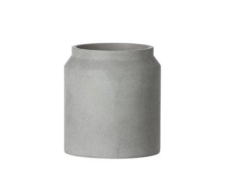 Ferm Living Pot voor plant licht grijs beton small ø18x16cm