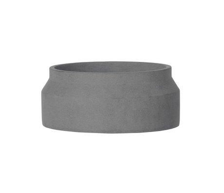 Ferm Living Pot voor plant donker grijs beton small ø20x8,5cm
