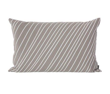 Ferm Living Sierkussen Striped grijs wit canvas 60x40cm