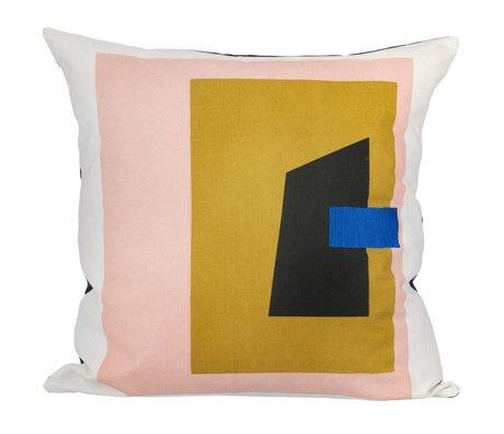 Ferm Living Sierkussen Fragment wit multicolour 50x50cm