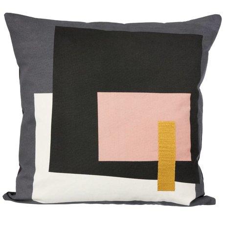 Ferm Living Sierkussen Fragment grijs multicolour 50x50cm