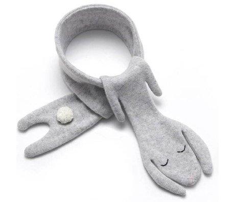 Donna Wilson Sjaal Bunny lamswol grijs 10x145cm