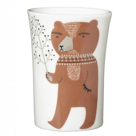 Mok Bear porselein wit ø10cmx7cm