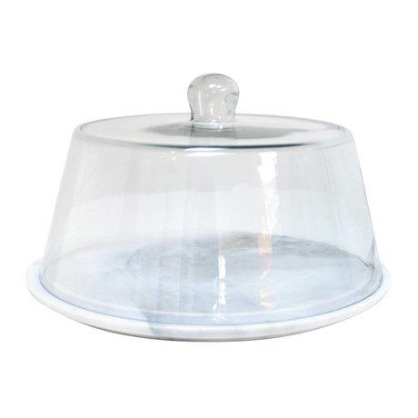 HK-living Glazen stolp koepel glas 29x29x16,5cm
