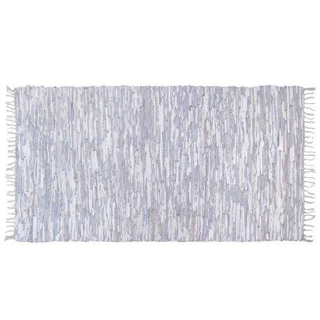 HK-living Vloerkleed leer licht grijs 180x280cm