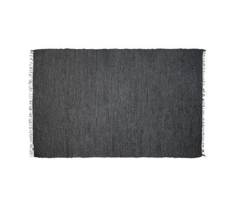 HK-living Vloerkleed leer grijs 175x90cm