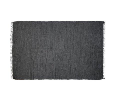 HK-living Vloerkleed leer grijs 180x280cm