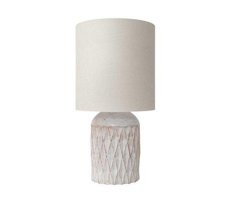 HK-living Tafellamp Terracotta fles wit 25x25x50cm