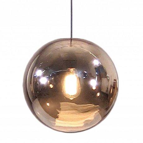 HK-living Hanglamp glazen bal koper ø30cm