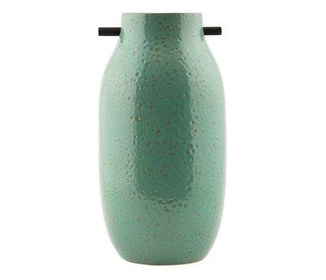 Housedoctor Vaas Woody groen aardewerk met rubber ø16x32cm