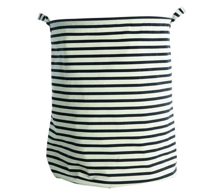 Housedoctor Wasmand Stripes zwart wit gestreept Ø40x50cm katoen/polyester/rayon