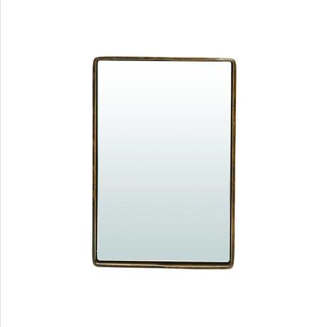 Housedoctor Spiegel Reflektion antiek brass goud kleurig ijzer 30x20x4cm