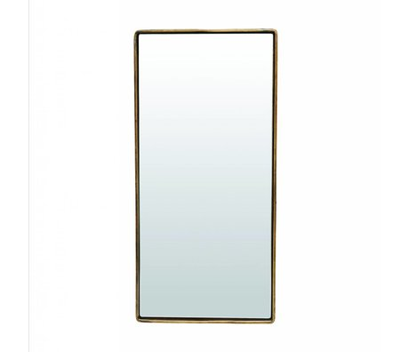 Housedoctor Spiegel Reflektion antiek brass goud kleurig ijzer 55x25x4cm