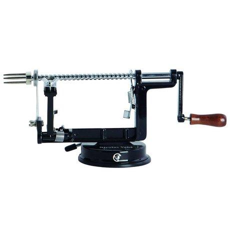 Housedoctor Appel schiller metaal hout zwart 25x5x11x15x2cm