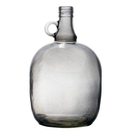 Storebror Vaas karaf 3 liter smoked grijs 17x27,5cm