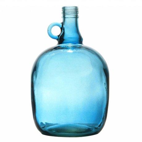 Storebror Vaas karaf 3 liter smoked blauw 17x27,5cm
