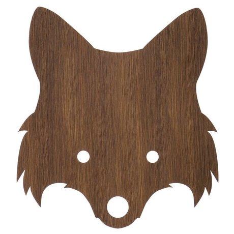 Ferm Living Wandlamp Fox hout 30x22,5cm Smoked Oak