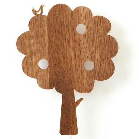 Ferm Living Wandlamp boom hout 27x35cm Smoked Oak