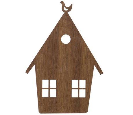 Ferm Living Wandlamp huis bruin hout 27x38,5cm Smoked Oak