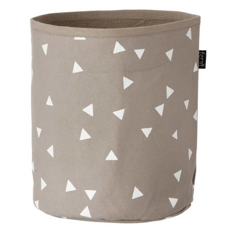 Ferm Living Mand Arrow Basket grijs/bruin wit small 22x25cm