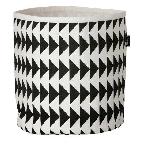 Ferm Living Mand Triangle Basket zwart wit small 22x25cm