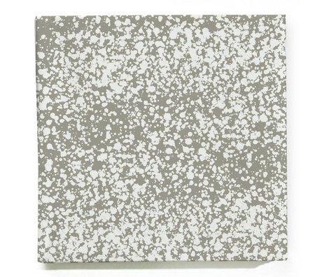Ferm Living Servetten Splash grijs wit set van 20 stuks 16,5x16,5cm