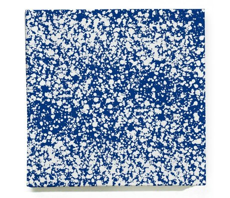 Ferm Living Servetten Splash blauw wit set van 20 stuks 16,5x16,5cm
