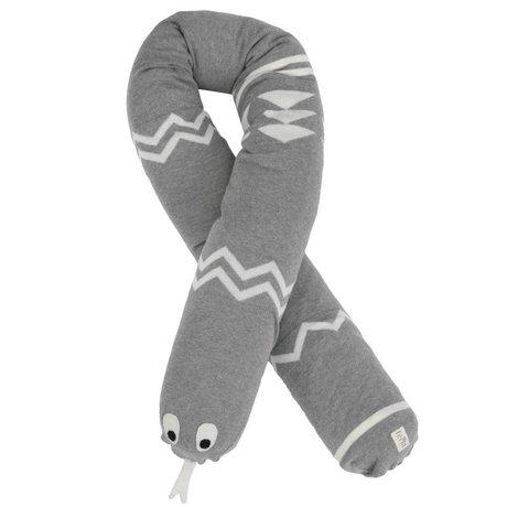 Ferm Living Sierkussen Slang Mr. Inka Snake grijs 180cm