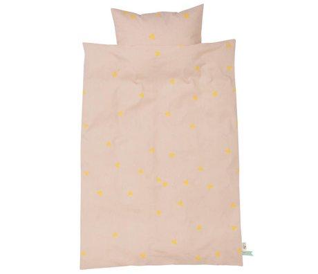 Ferm Living Dekbedovertrek Teepee roze geel 3 maten
