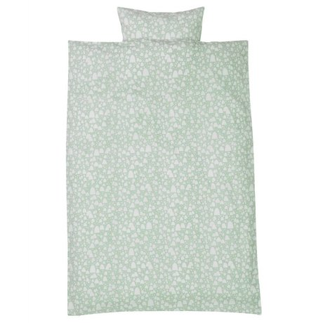 Ferm Living Dekbedovertrek Mountain Tops mint groen 3 maten
