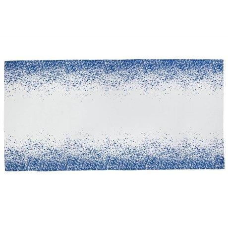 Ferm Living Tafelkleed Splash blauw wit 100% katoen 2 maten