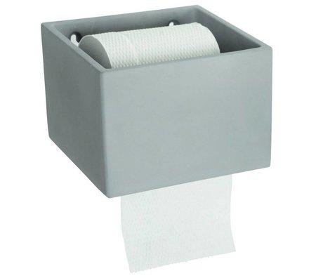 Housedoctor WC rol houder cement grijs 14,5x15xh10cm