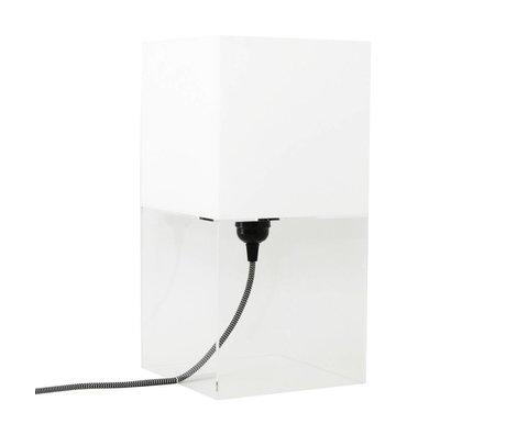 HK-living Tafellamp plexi wit medium h36cm