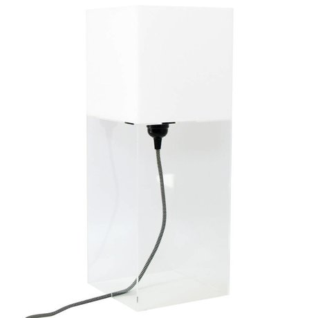 HK-living Tafellamp plexi wit large h48cm