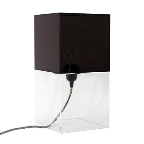 HK-living Tafellamp plexi zwart medium h36cm