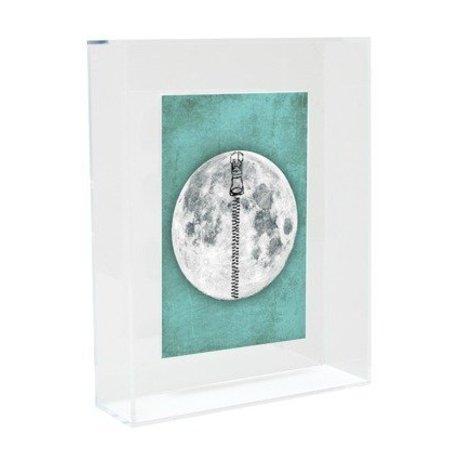 HK-living Kunst frame moon acryl 22x17x5cm