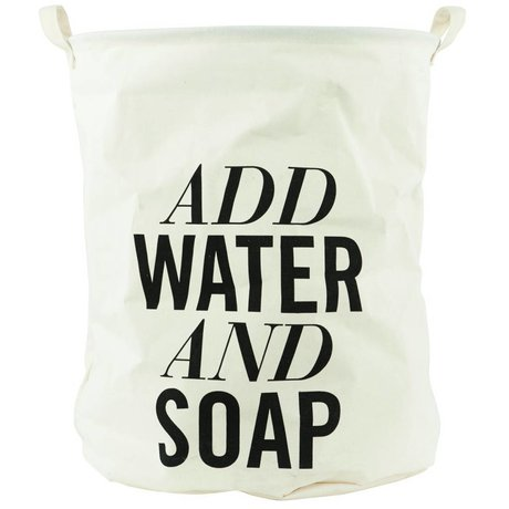 Housedoctor Wasmand ADD WATER AND SOAP wit canvas ø40xh50cm