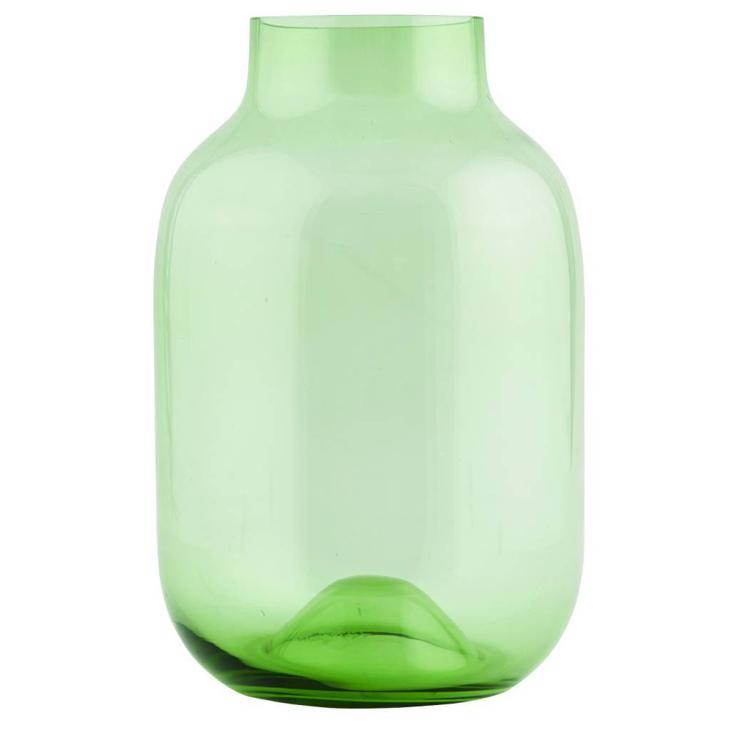 Groene Glazen Vaas.Housedoctor Vase Shaped Recycled Groen Glas O21xh32 5cm Lefliving Be