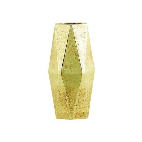 Housedoctor Vaasje Geometry brass koper kleurig aluminium ø9xh18cm