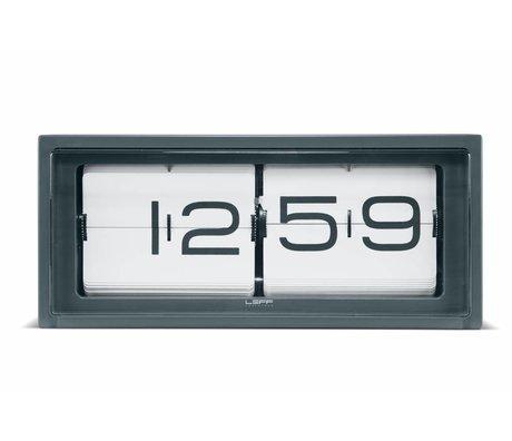 LEFF Amsterdam Klok Brick wand en tafelklok grijs wit 36x12,8x15,7cm