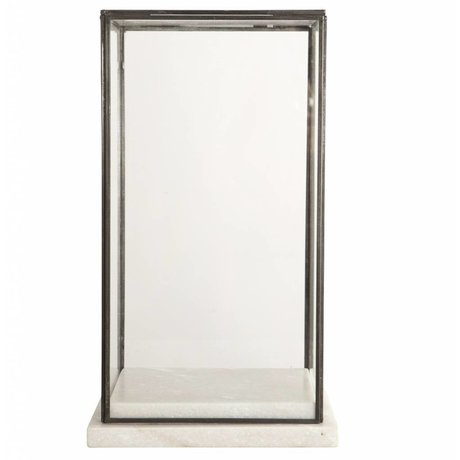 Housedoctor Stolp / Showcase glas marble, marmer 19x19x33cm