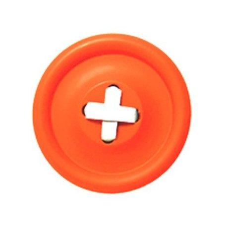 HK-living Haak oranje hout, witte steek 3 maten Ø6,13 en 18cm, Knoophaken