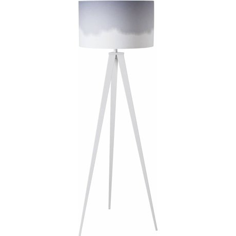 Zuiver Vloerlamp tripod dip dye grijs 157x50cm