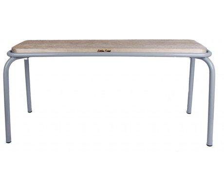 LEF collections Bankje Kitchen trend licht grijs 105cm