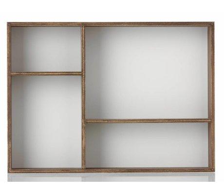 Ferm Living Wandkastje 'Organiser grey' eiken fineer/grijs 24x33x6cm